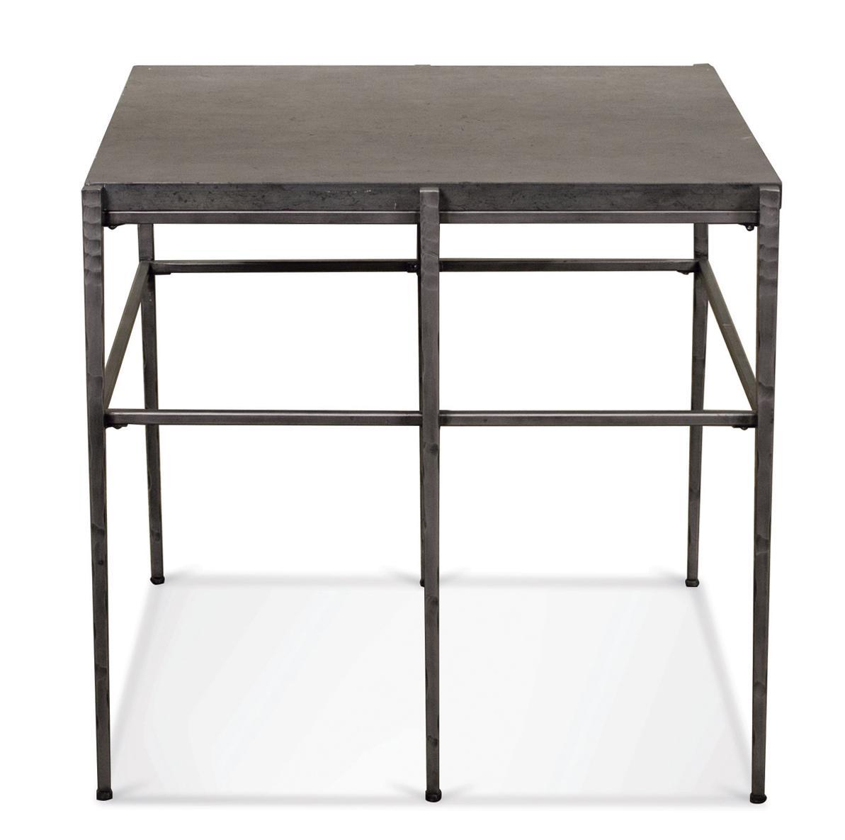 Riverside Furniture Lorraine Square End Table W/ Metal Base