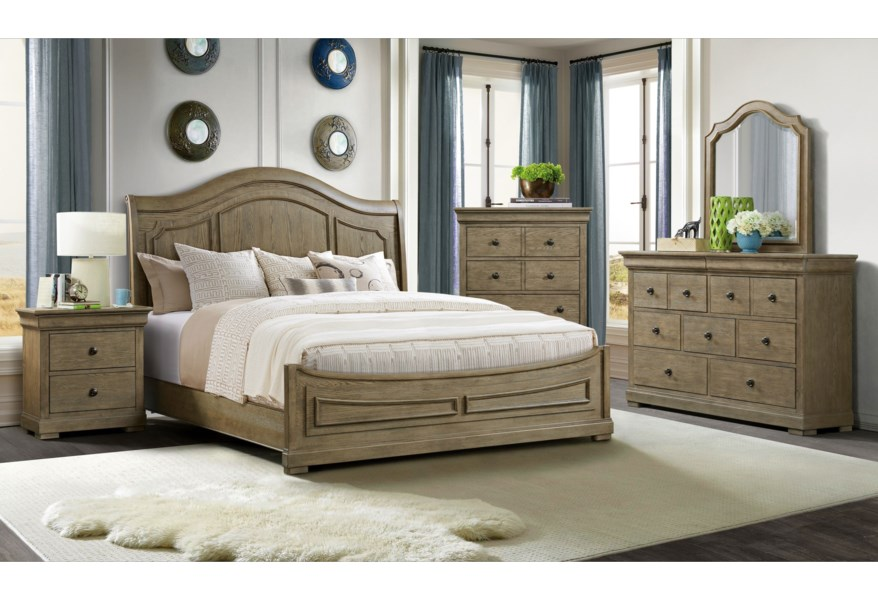 Riverside Furniture Louis Farmhouse Transitional Nine Drawer Dresser With Felt And Cedar Lined Drawers Rooms For Less Dressers