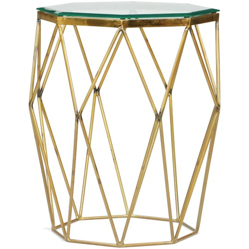 Riverside Furniture Lucentio Glamorous Octagon Side Table