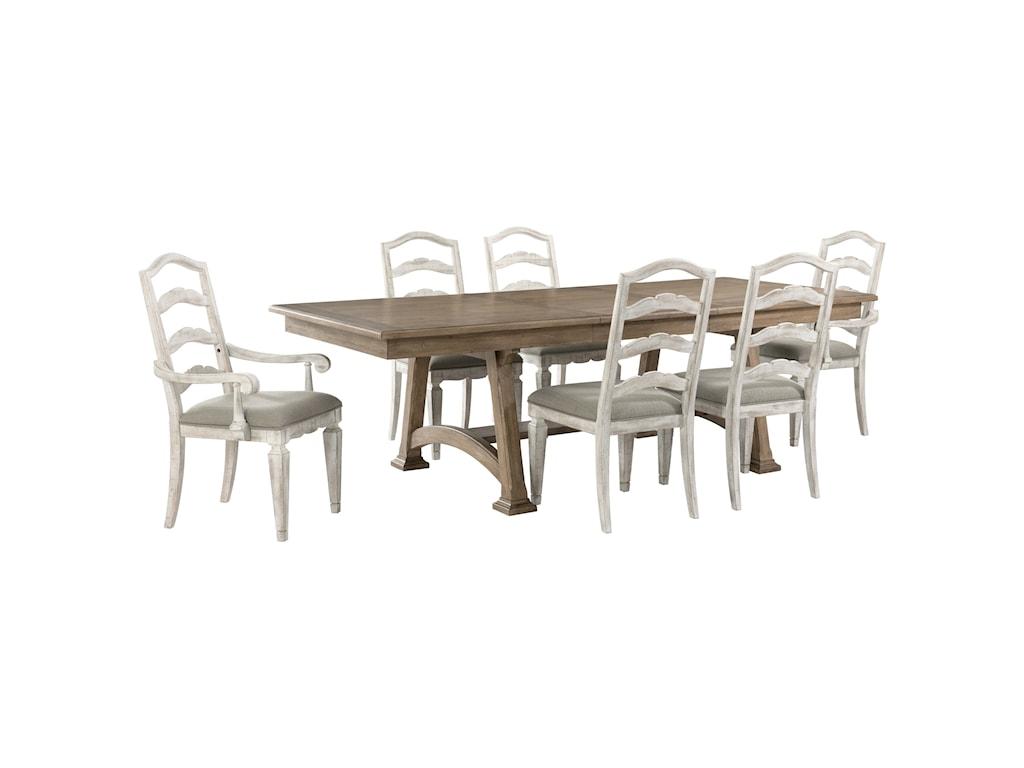 Riverside Furniture MadisonTrestle Dining Table