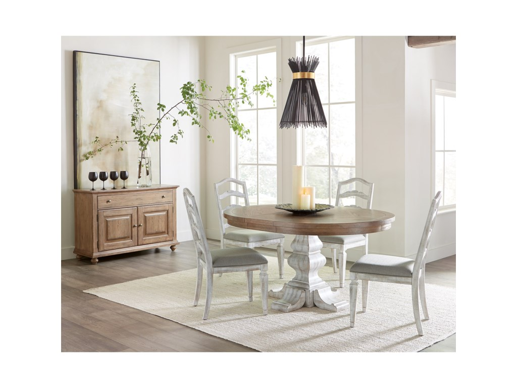 Riverside Furniture MadisonRound Pedestal Dining Table