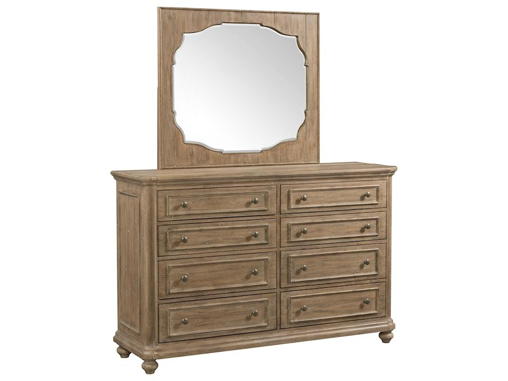 Riverside Furniture MadisonDresser and Mirror Combo