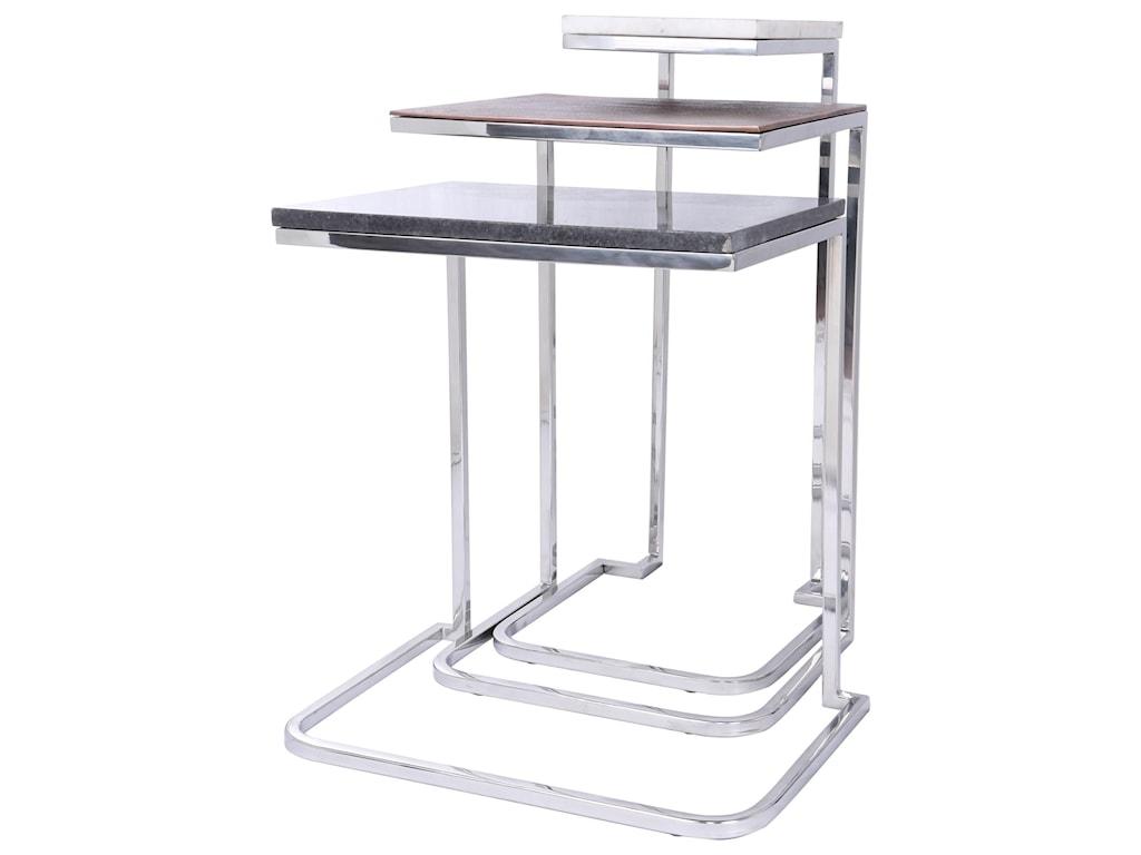 Riverside Furniture Makayla3pc Nesting Chairside Table