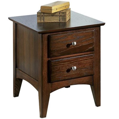Riverside Furniture Metro II 2 Drawer End Table