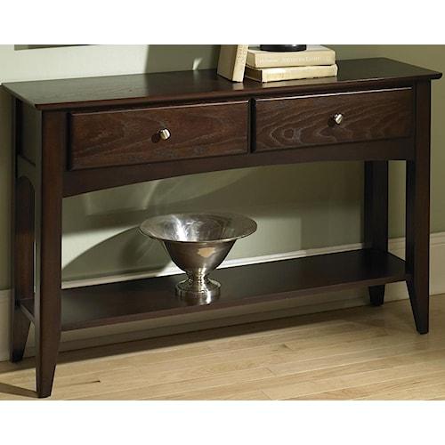Riverside Furniture Metro II 2 Drawer Sofa Table