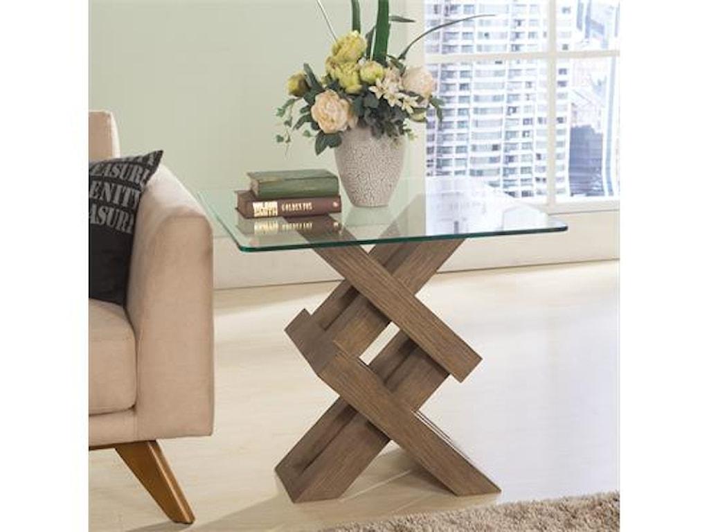 Riverside Furniture MirabelleSquare End Tabl-Wood Base