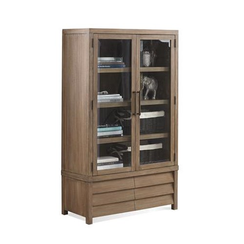 Riverside Furniture Mirabelle Cabinet Bookcase with Louvered Front File Drawers