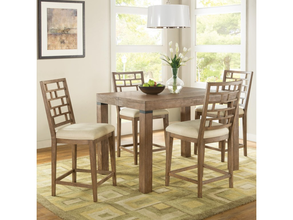 Riverside Furniture Mirabelle5 Piece Counter Height Table and Chair Set