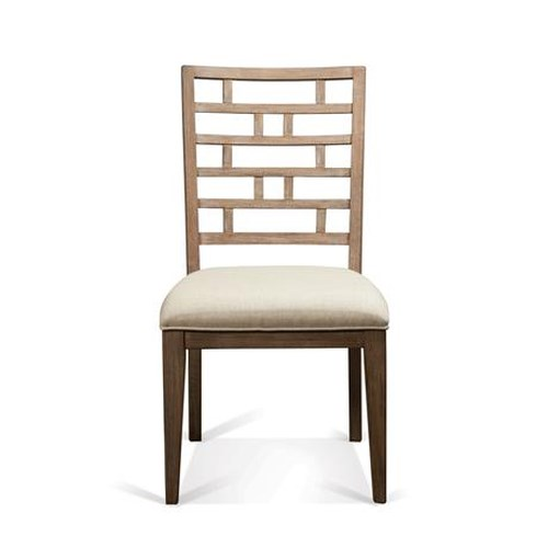Riverside Furniture Mirabelle Curved Lattice Back Upholstered Side Chair