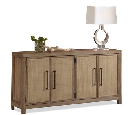 Superb Riverside Furniture Mirabelle Server With Woven Cane Door Covering