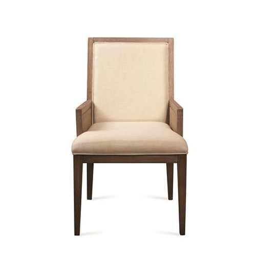 Riverside Furniture Mirabelle Hardwood Solid and Cane Upholstered Dining Arm Chair