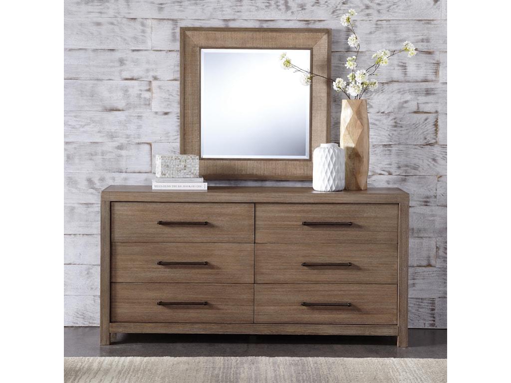 Riverside Furniture MirabelleDresser and Mirror Combo