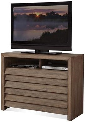 Riverside Furniture Mirabelle Media Chest with Louvered Drawer Fronts