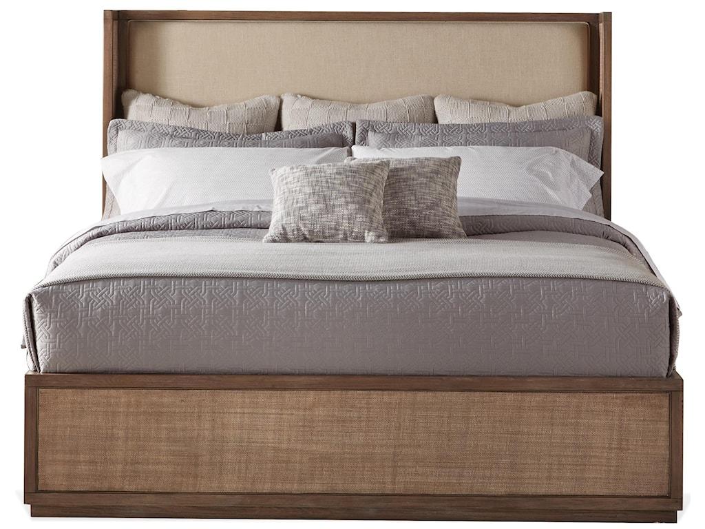 Riverside Furniture MirabelleQueen Upholstered Shelter Bed