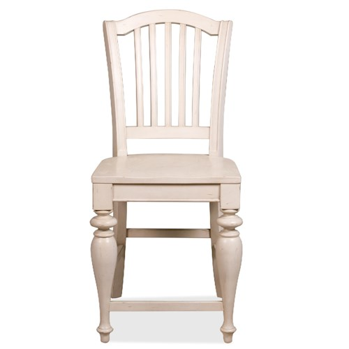 Riverside Furniture Mix-N-Match Chairs Counter Height Stool with Wood Seat