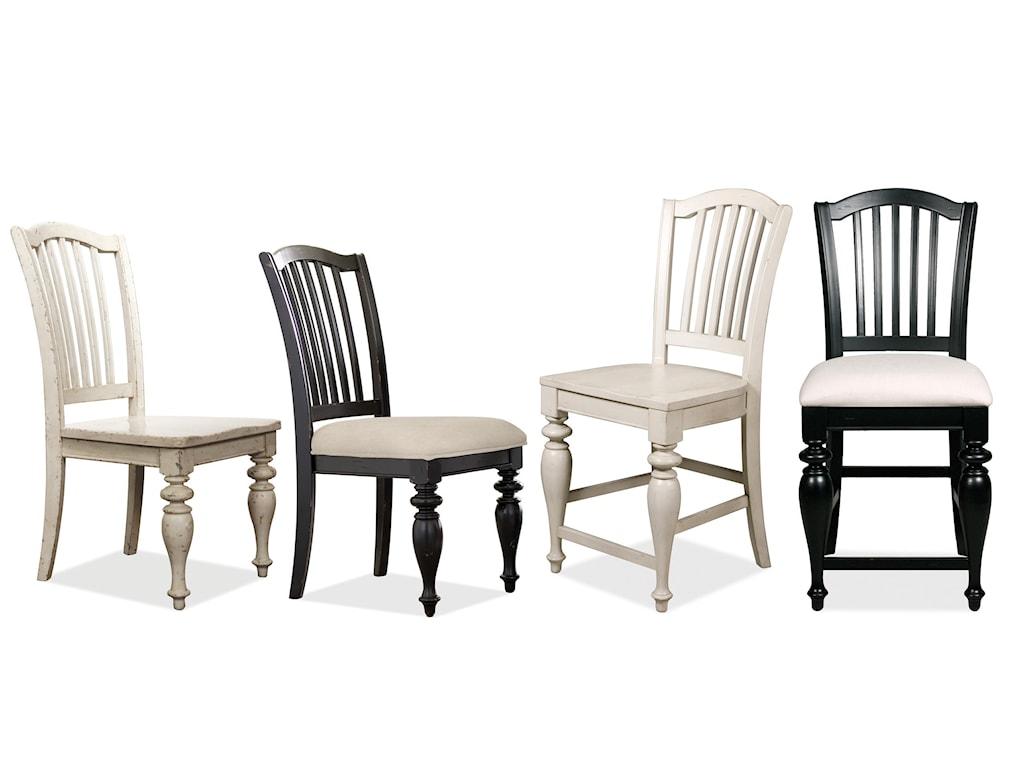 Riverside Furniture Mix-N-Match ChairsWood Seat Bar Stool