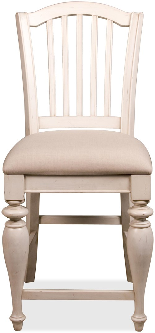 Riverside Furniture Mix-N-Match Chairs Counter Height Stool with Upholstered Seat