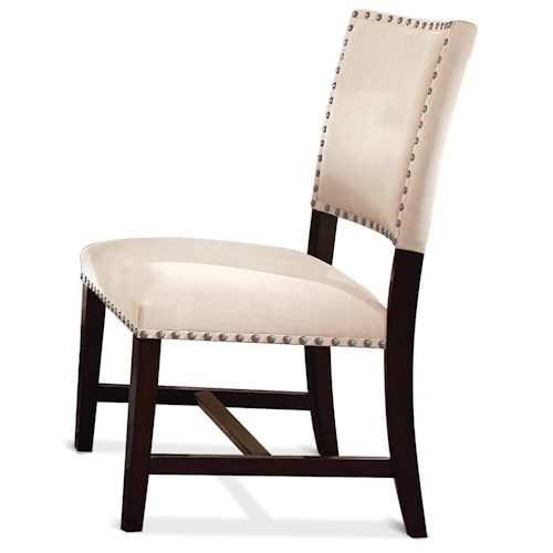 Riverside Furniture Mix-N-Match Chairs Micro-Fiber Upholstered Parson Chair with Nailhead Trim