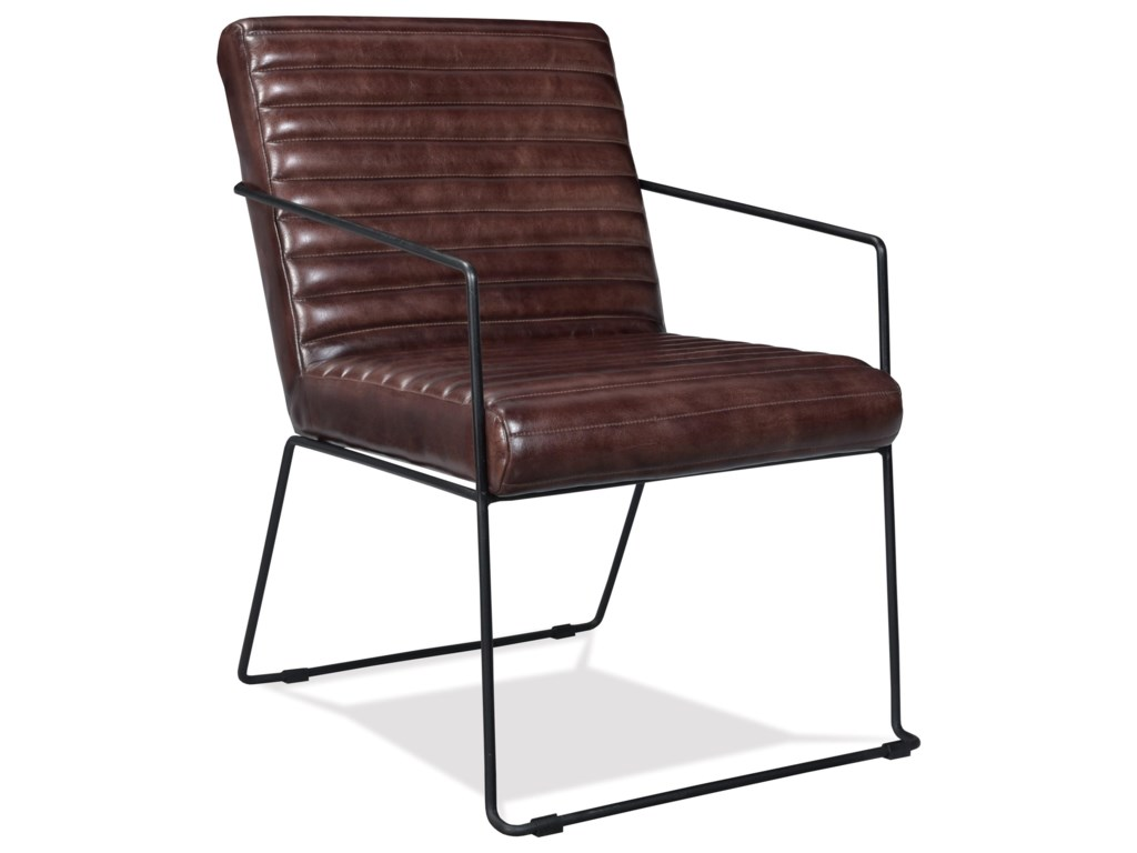 Riverside Furniture Mix-N-Match ChairsHorizontal Tufted Leather Arm Chair