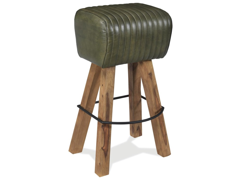 Riverside Furniture Mix-N-Match ChairsTufted Leather Bar Stool
