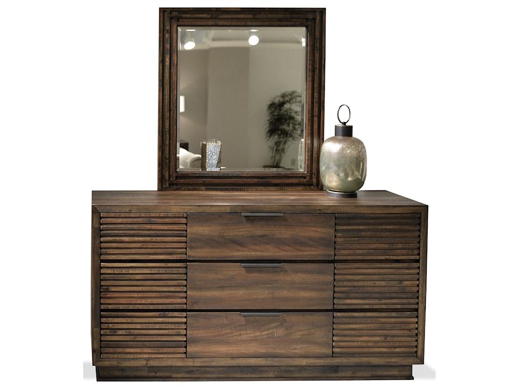 Riverside furniture modern gatherings twodresser mirror set