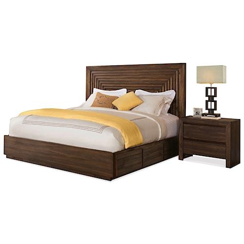Riverside Furniture Modern Gatherings California King Bedroom Group 1