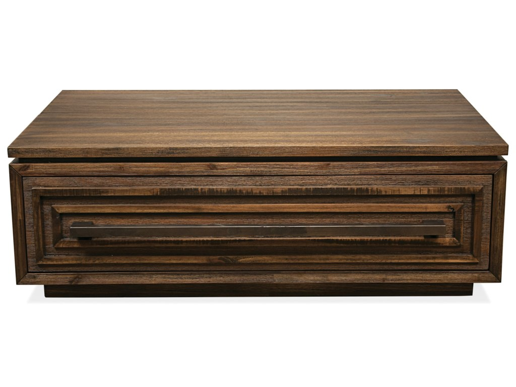 Riverside Furniture Modern Gatherings Contemporary Coffee Table With