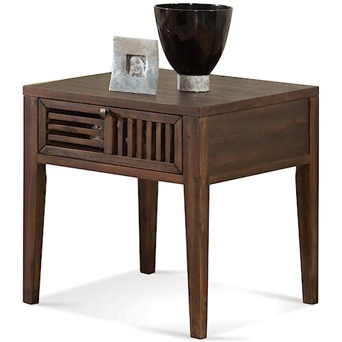 Riverside Furniture Modern Gatherings Open Slat End Table with 1 Drawer
