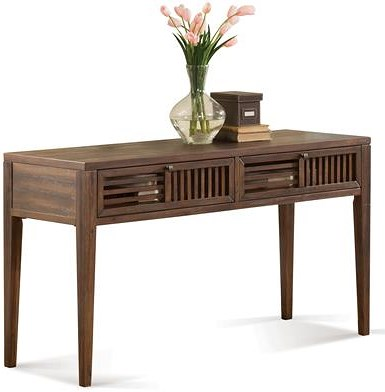 Riverside Furniture Modern Gatherings Open Slat Sofa Table with 2 Drawers
