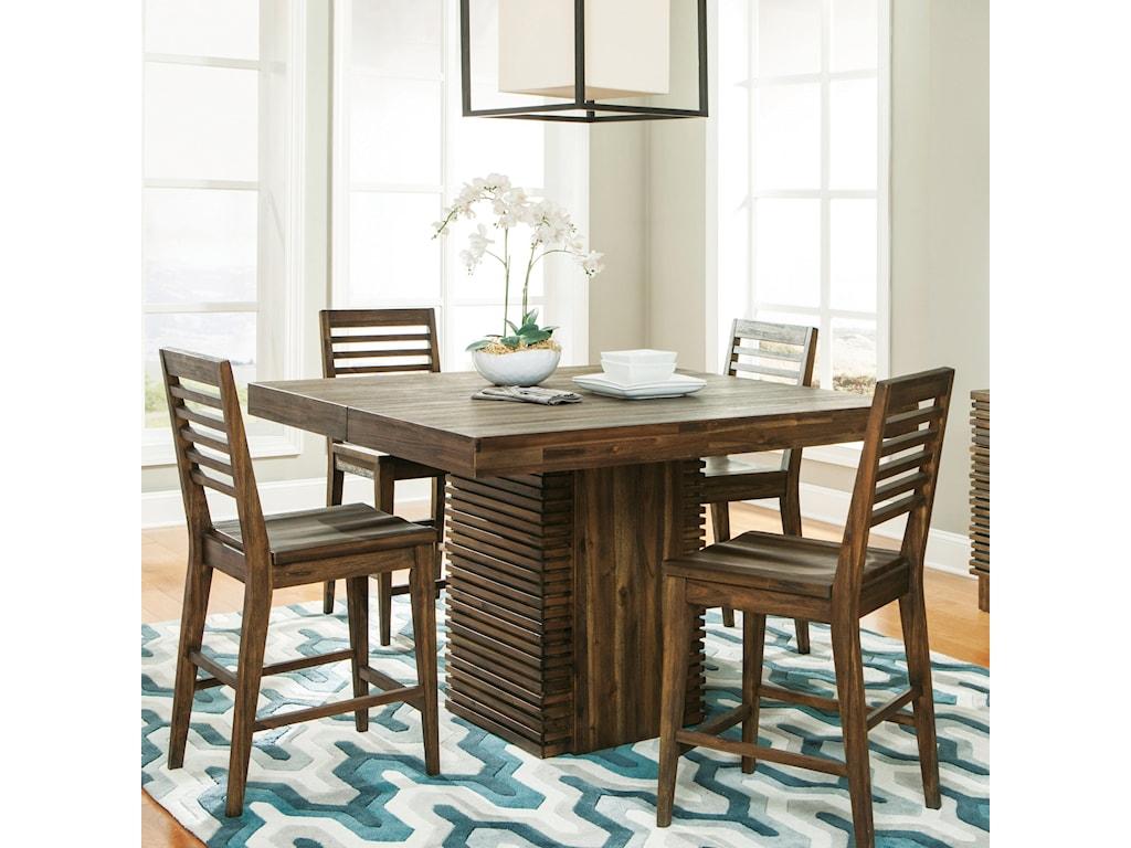 Riverside Furniture Modern Gatherings5 Pc Gathering Height Table Set