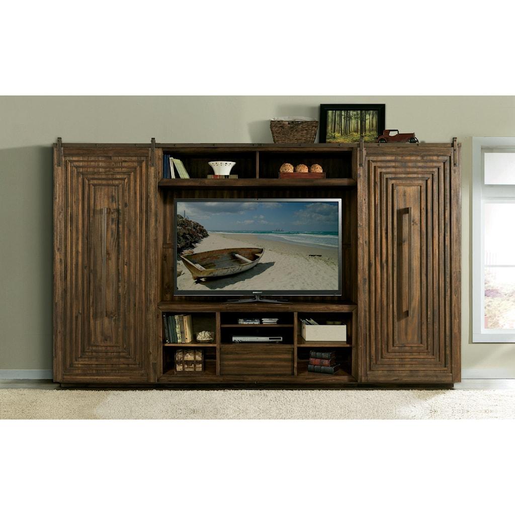 Riverside furniture modern gatheringsentertainment wall unit