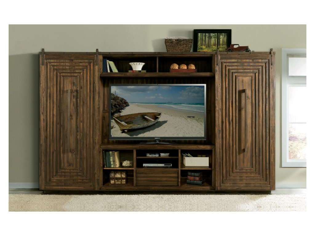 Riverside furniture modern gatheringsentertainment wall unit