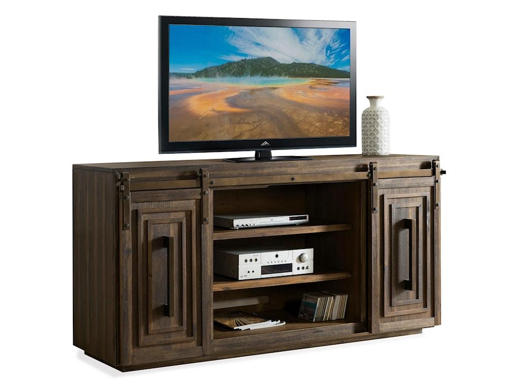 Riverside Furniture Modern Gatherings72in Sliding Door Console
