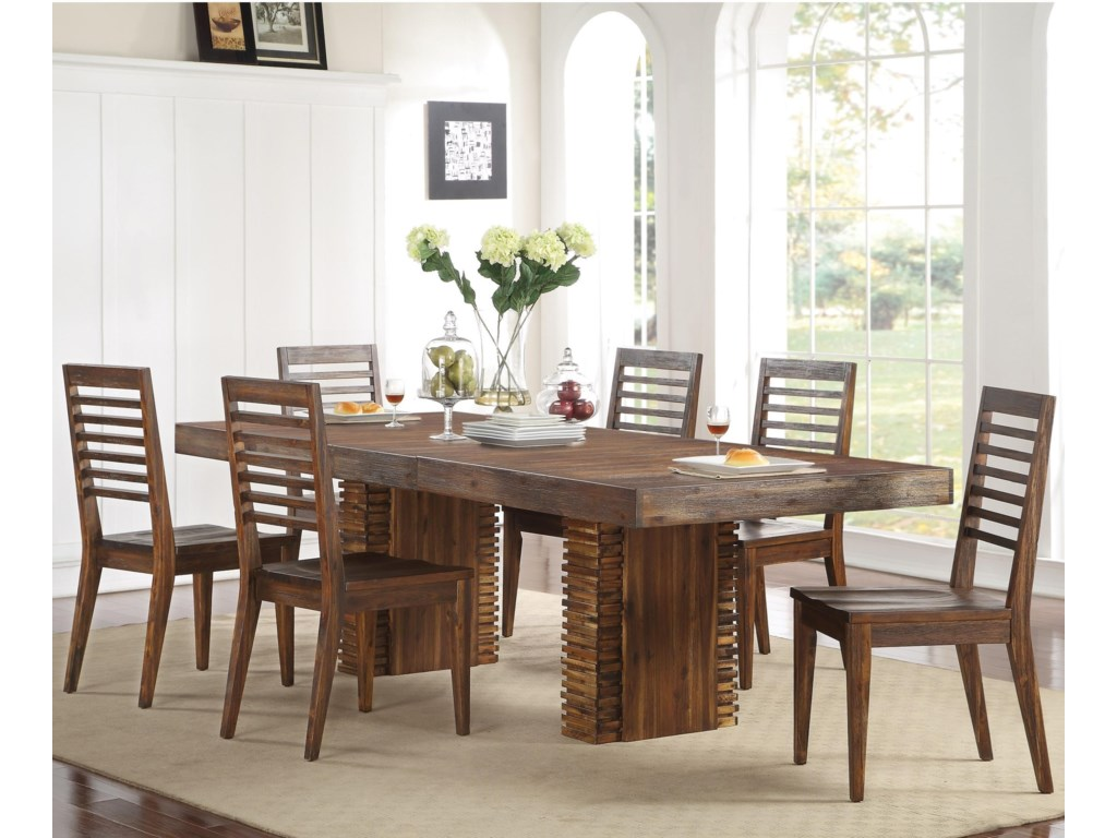 Riverside Furniture Modern Gatherings7 Piece Table and Chair Set