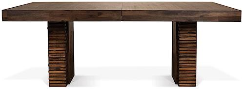 Riverside Furniture Modern Gatherings Double Pedestal Rectangular Dining Table with 18