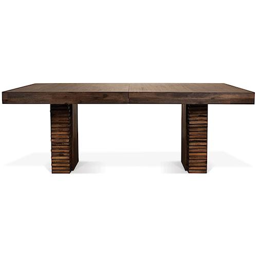 Riverside Furniture Modern Gatherings Double Pedestal Rectangular - Modern double pedestal dining table
