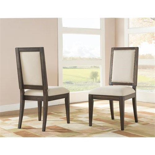 Riverside Furniture Modern Gatherings Side Chair Uph Seat 2in