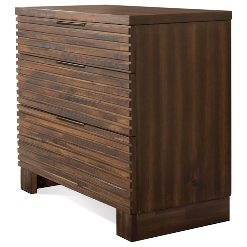 Riverside Furniture Modern Gatherings 3 Drawer Bachelors Chest