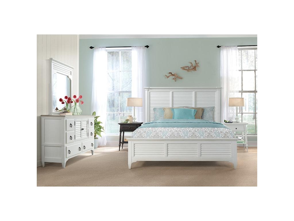 Riverside Furniture MyraKing Louver Bed