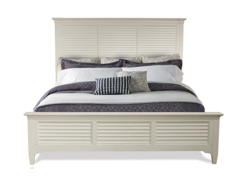Riverside Furniture MyraQueen Louver Bed