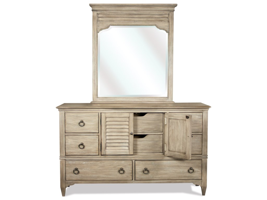 Riverside Furniture MyraDresser and Mirror Combo