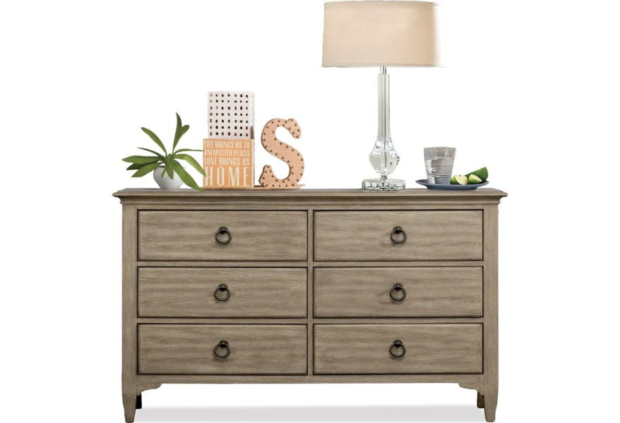 Myra 6-Drawer Small Dresser