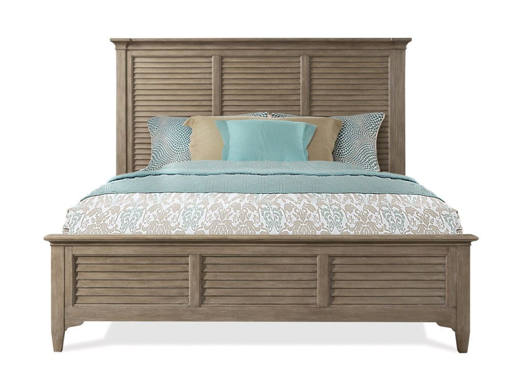 Riverside Furniture MyraKing Louver Bed