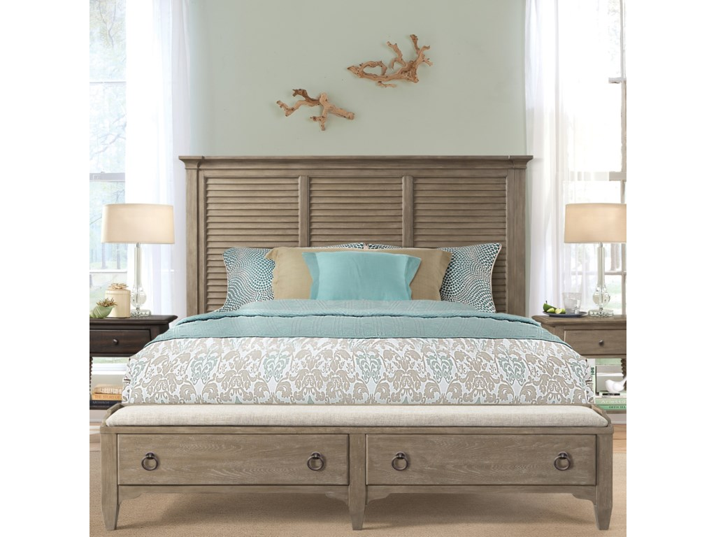 Riverside Furniture MyraQueen Louver Storage Bed