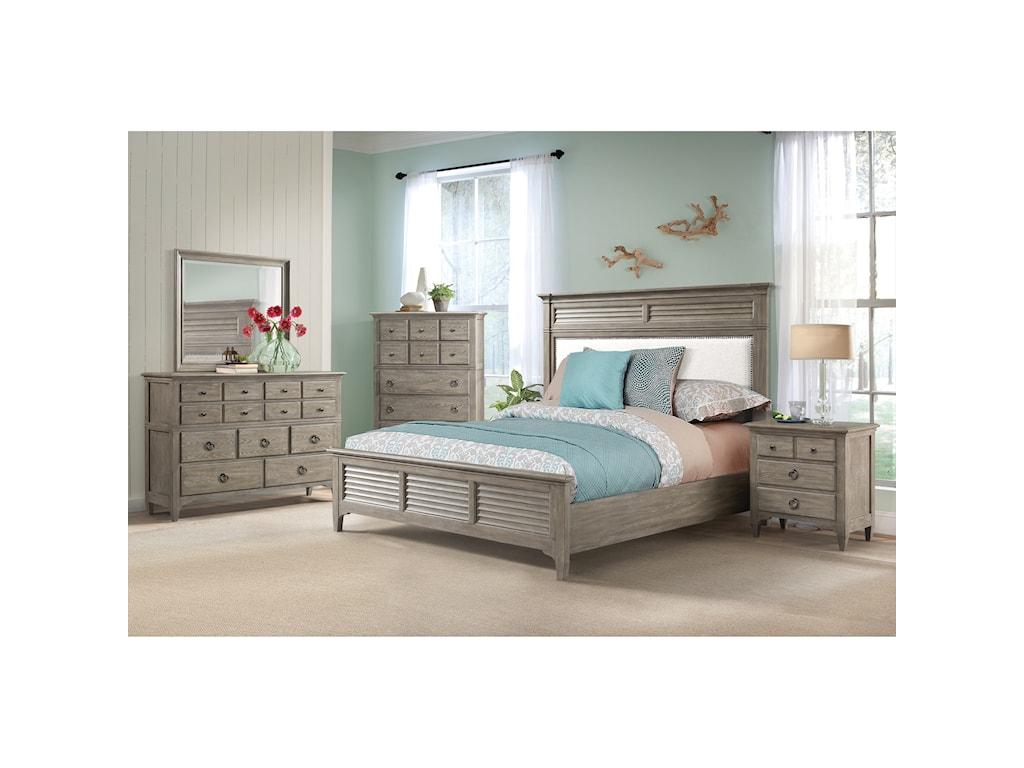 Riverside Furniture MyraQueen Upholstered Bed