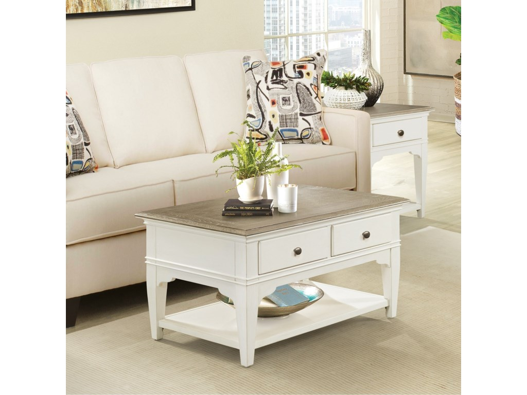 Riverside Furniture MyraSmall Leg Coffee Table