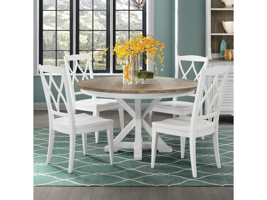 Riverside Furniture Myra5 Piece Table and Chair Set