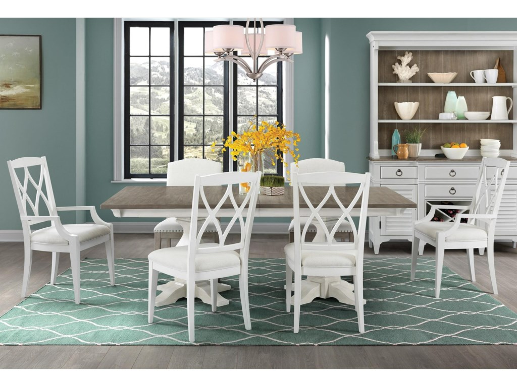 Riverside Furniture Myra7 Piece Table and Chair Set