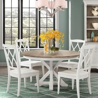 Round Table X 4 Sides Chairs