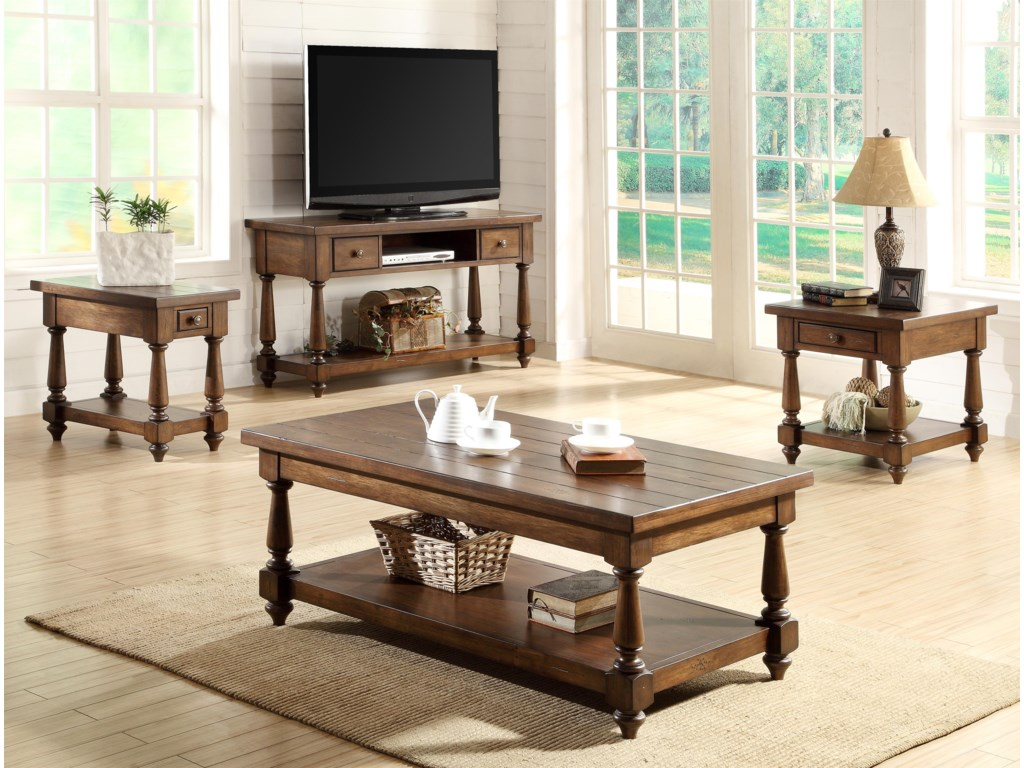 Shown with End Tables & Console Table